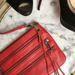 Rebecca Minkoff • Zip Leather Crossbody Clutch